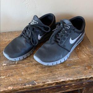 Nike Black Stefan Janoski Max Skateboard Shoe Sz 7